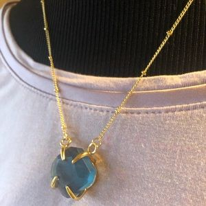 Genuine Natural Agate Necklace 24K Gold Plated